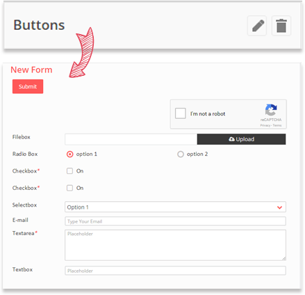 Adding buttons