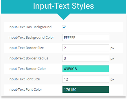 Text field styles