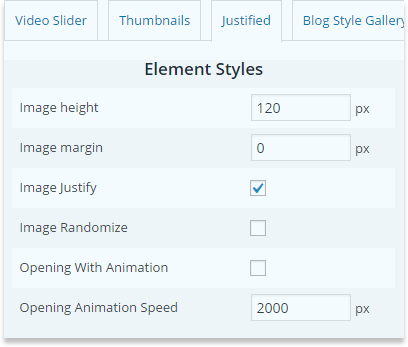 wp-video-gallery-general-options-justified-element-styles